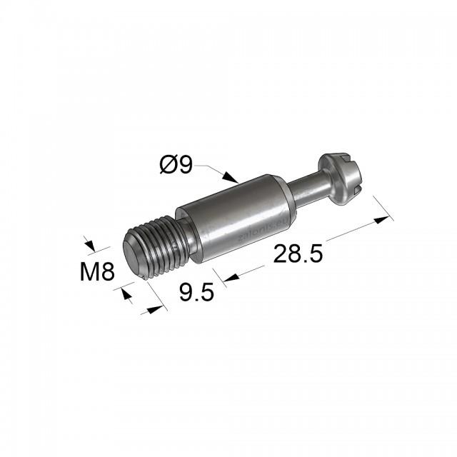 CONNECTING BOLT D.35 M8 B35 L9.5